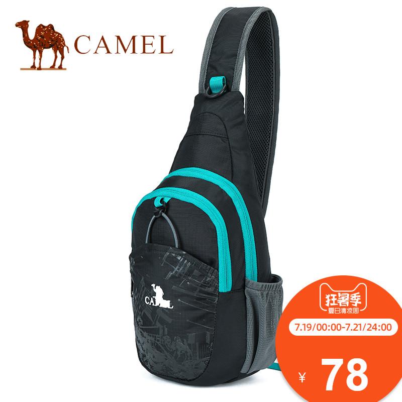 Camel包包骆驼男女胸包v包包户外运动单肩斜男包多功能胸前小挎包