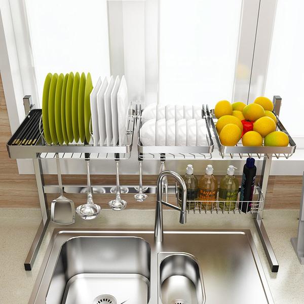 НАНА 304 стойки из нержавеющей стали раковина чаша стеллаж сливной стеллаж хранения стеллаж для посуды сливной корзина кухонные принадлежности