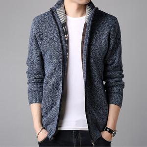 【全国包邮】冬季韩版男士加绒加厚开衫外套