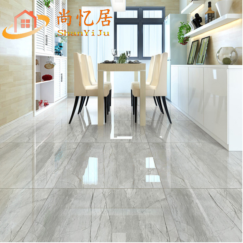 Foshan Gray Marble Living Room Floor Tiles 800x800 Bedroom Clouds Limestone Full Cast Glazed