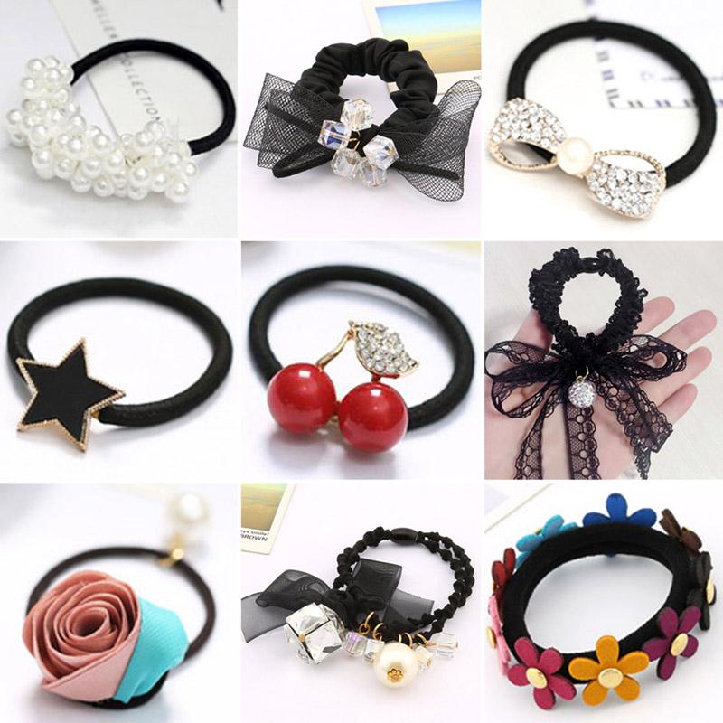 ... Korea hair accessories hair band headband hair band tie hair band rubber  band female head flower 322c6fe8f8e