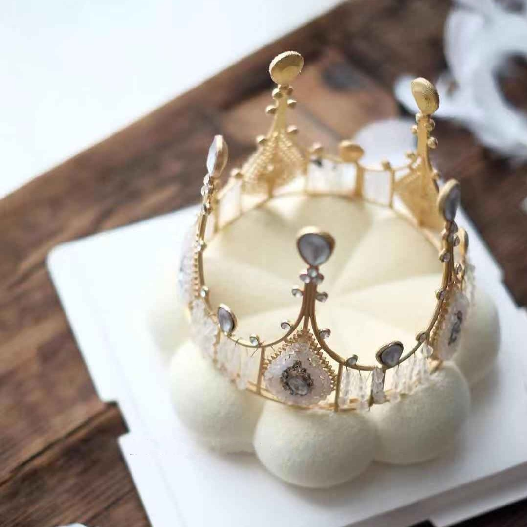 Crown Cake Decoration Gold Bronze Retro Crown Baking