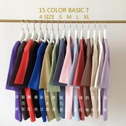 韩版初春新款纯色圆领内搭打底上衣女百搭基础款短袖T恤女上衣