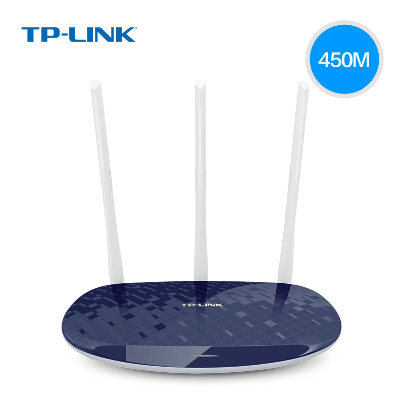 tplink wireless router through the wall king 450m home wifi high speed through the wall tplink fiber optic telecommunications stable intelligent mobile broadband unlimited oil wr886n