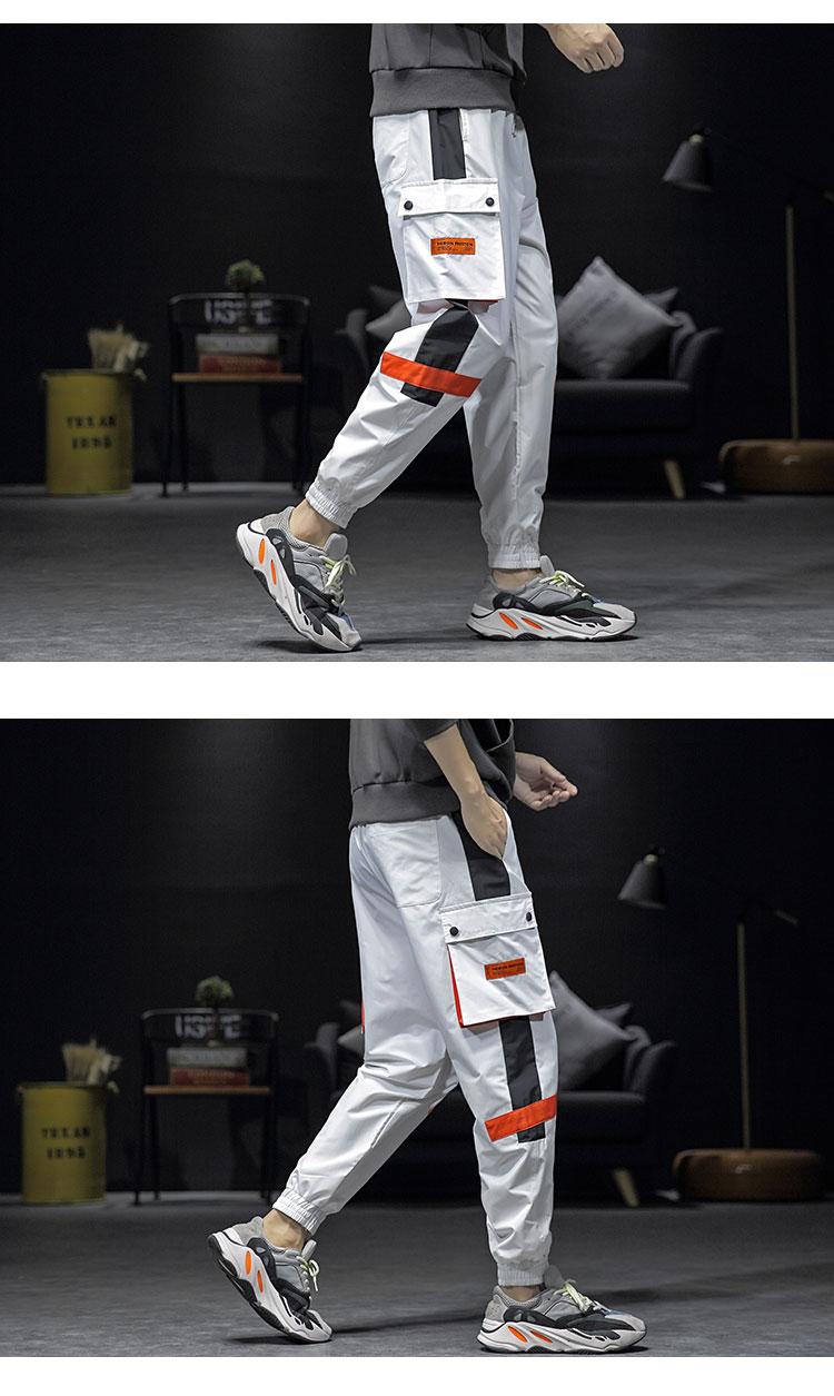 2020 新款撞色 拼色 大码 宽松 休闲裤 1910 P45