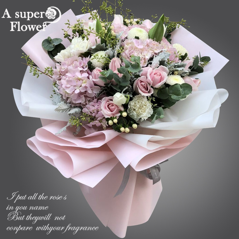 USD 15126 Hangzhou Flower Delivery Hydrangea Rose Mix And Match