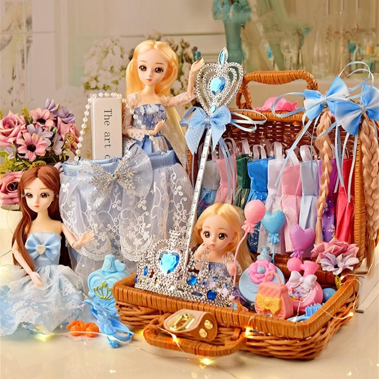 艾莎贝翎芭比洋娃娃女孩公主套装玩偶仿真爱莎换装儿童玩具大礼盒