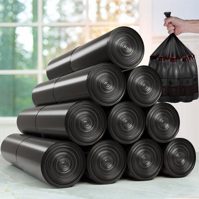 垃圾袋家用背心手提式加厚大号实惠装拉圾圾桶塑料袋中号黑色厨房