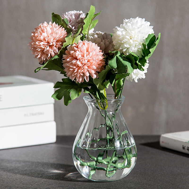 Transparent glass bottle hydroponic plant container green radish flower small vase dried flower arrangement flower living ... & Transparent glass bottle hydroponic plant container green radish ...