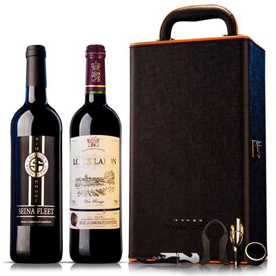 【塞纳湾】法国原瓶进口半干红葡萄酒
