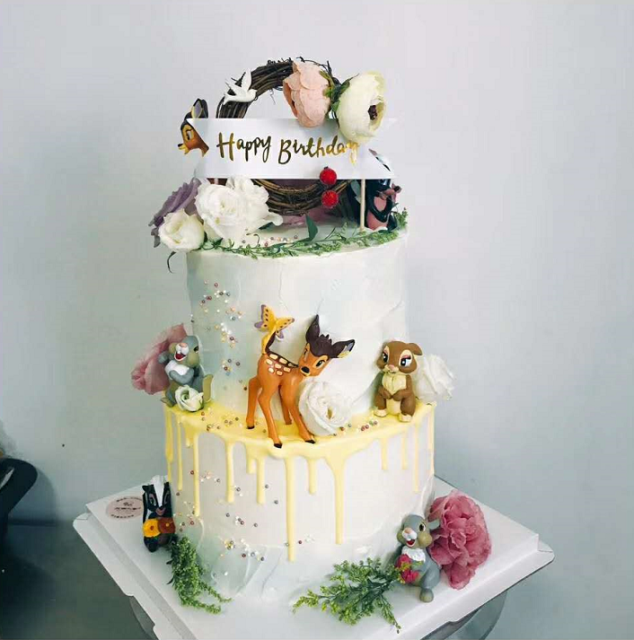 Usd 5 97 Cake Decoration Mori Bird Nest Flowers Happy Birthday Cake