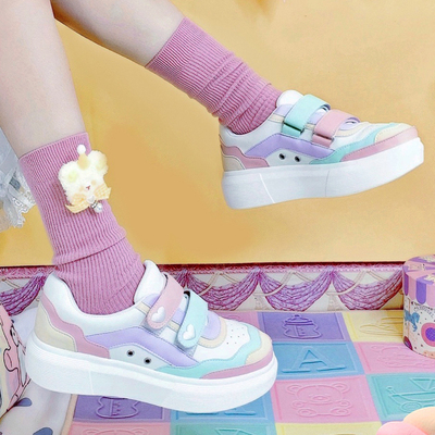 taobao agent [Color matching spot] Bibab New Color Moon Park Cooperation Star Crown Genuine Lolita Sneakers