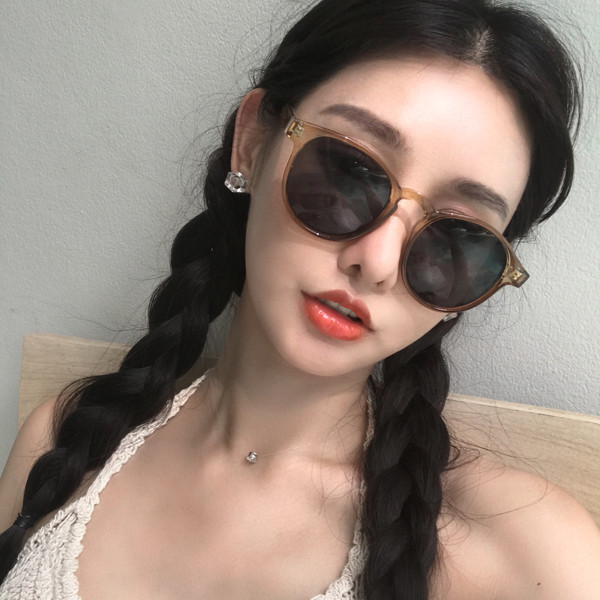 9cf038a2d4e vintage new Korean 2018 retro sunglasses female tide round sunglasses tide  people myopia sunglasses round face