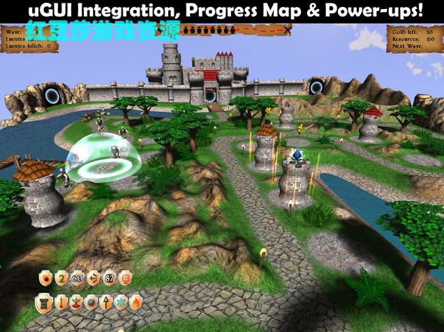 Unity3D游戏项目3DTowerDefenseKit3D塔防游戏完整项目