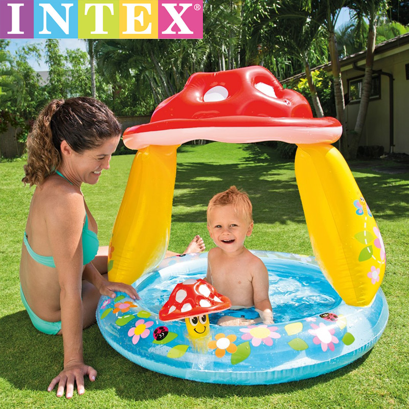 INTEX Inflatable Swimming Pool Adult Children Family Home Indoor Thickening Kids Slide Water Park