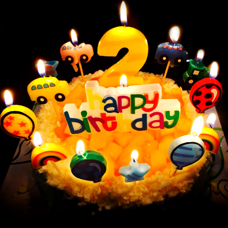 Birthday Cake Candles Children Baby Creative Smoke Free Party Cartoon Number Small Candle