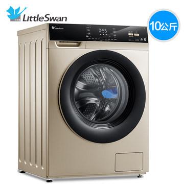 小天鹅10KG变频滚筒全自动洗衣机家用洗烘干一体机 TD100V62WADG5