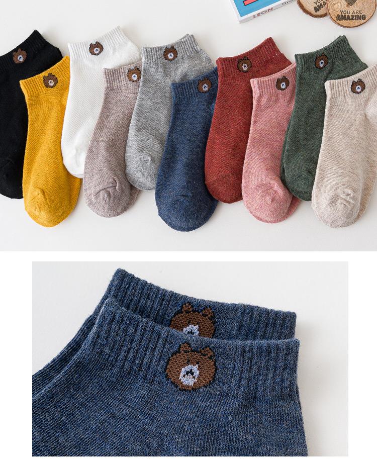 南极人袜子女隐形袜中筒袜潮短袜浅口低帮日系网红街头春秋薄款详细照片