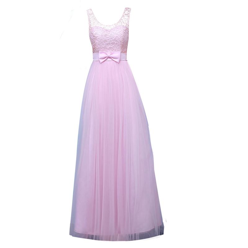 Вечерние платья Невесты одежды длинный абзац рукавом миссия сестры платье женщин Макси платье 2018 новая весна мини-платье вечернее платье выпускной сезон