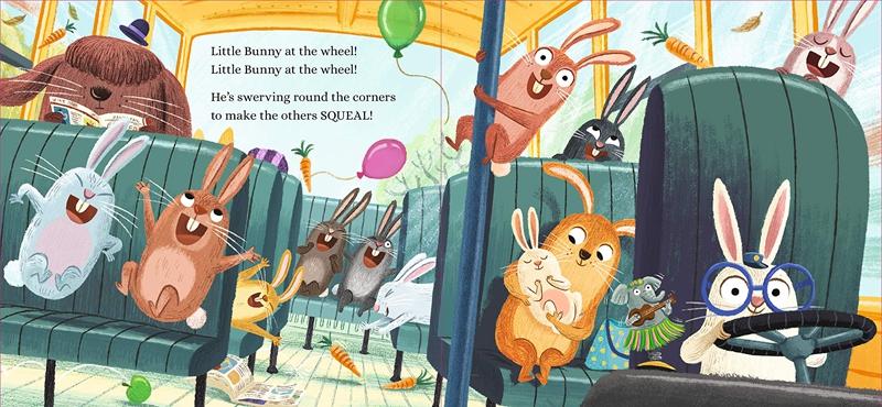 Ben Mantle Bunnies on the Bus 巴士上的小兔子 精品繪本 低幼幽默韻律啟蒙繪本 英文原版 3