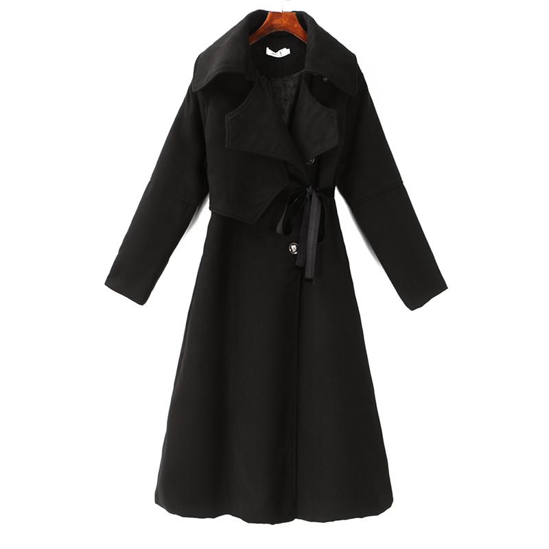 大衣呢子女秋冬装中长款韩范显瘦修身收腰轻熟风毛呢外套G区26