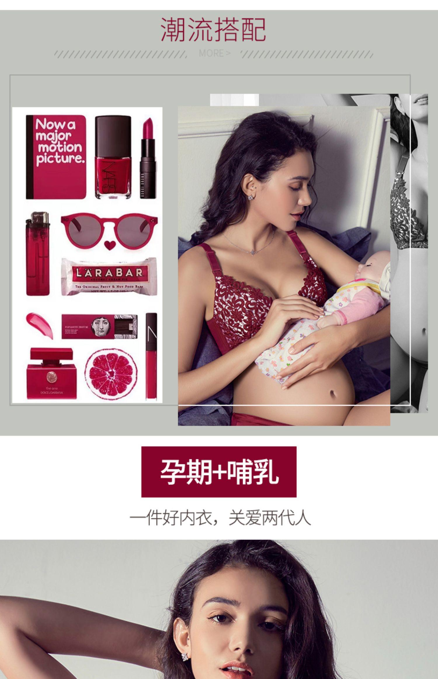 哺乳文胸孕妇内衣女喂奶夏季怀孕期防下垂聚拢产后薄款纯棉里超薄商品详情图