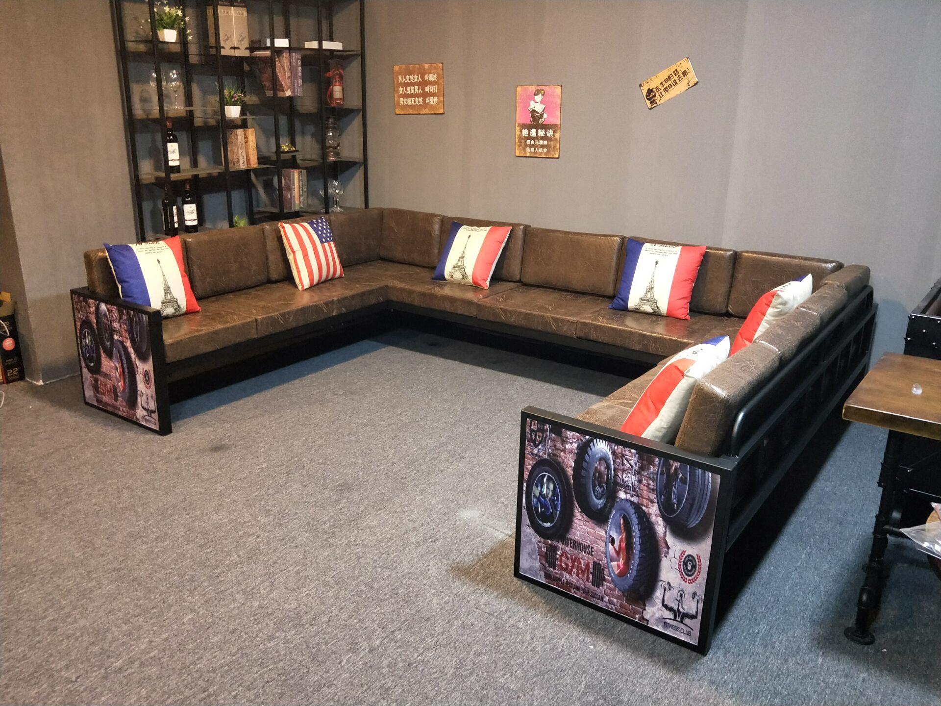 Промышленность ветер железо угол диван стандарт UL тип KTV пакет автомобиль диван бар палуба диван столы и стулья сочетание
