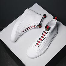 男鞋高帮鞋韩版潮流白鞋高邦板鞋