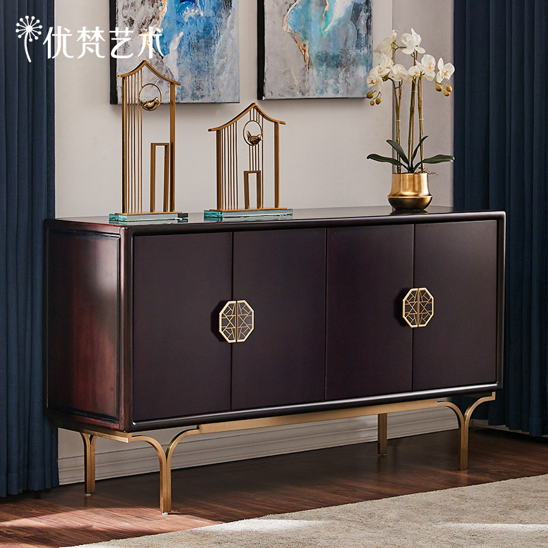 (Clearing) Neoclassical dining side cabinet restaurant prepared living room wall cabinet