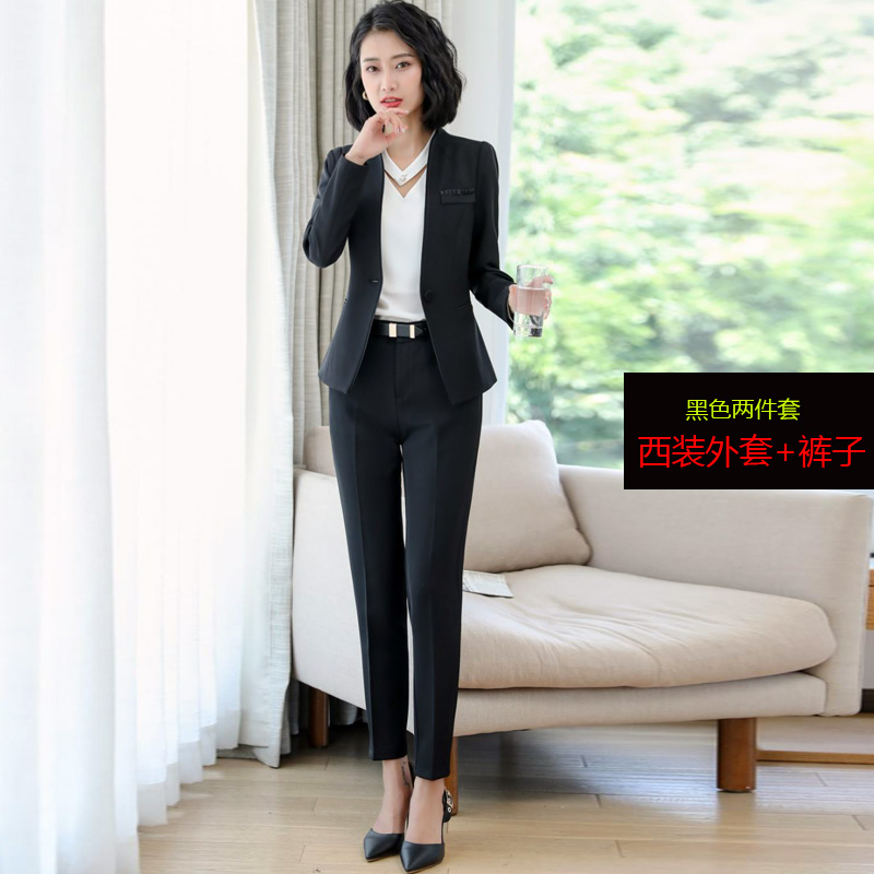 e341b532a1 professional wear women's suit Fashion style goddess Fan 2019 spring new  ladies ol temperament suit overalls