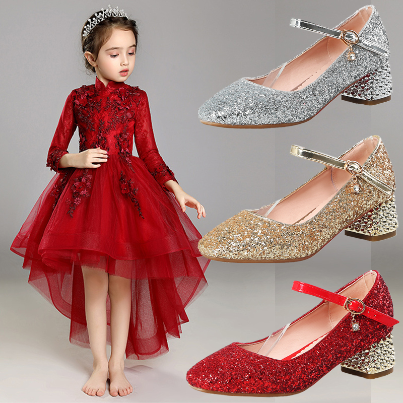 Girl leather shoes little girl shoes