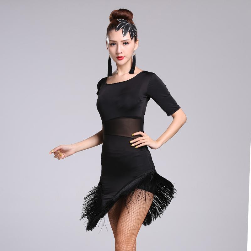 ee2529ed9 Latin dance costume female adult jumpsuit dress dance practice clothes new  suit just Latin dance practice dress tassels