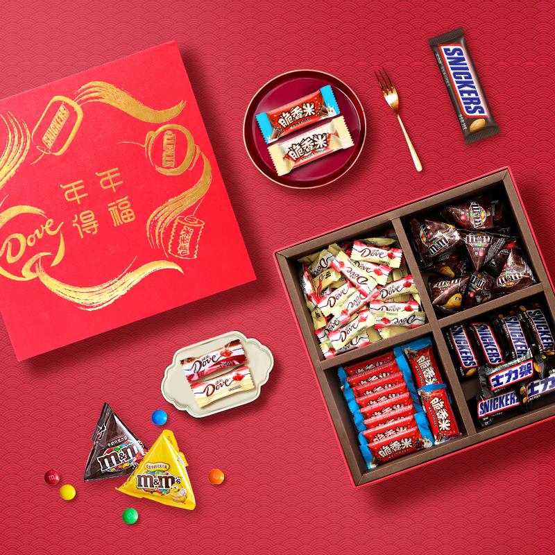 DOVE 德芙 年年得福 巧克力年货国潮礼盒 1000g 天猫优惠券折后¥99.9包邮(¥109.9-10)
