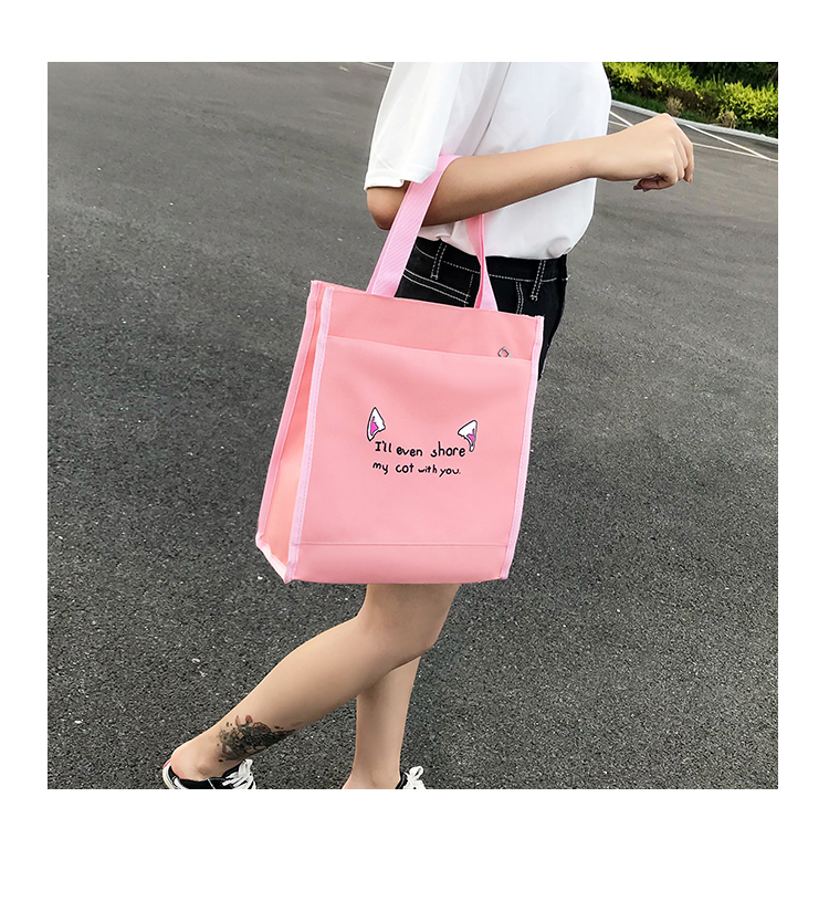 Cute WeekendTravel Bag School Backpack for Girls Canvas Fashion Casual Four Piece Set Letter Bags Yellow one size 7