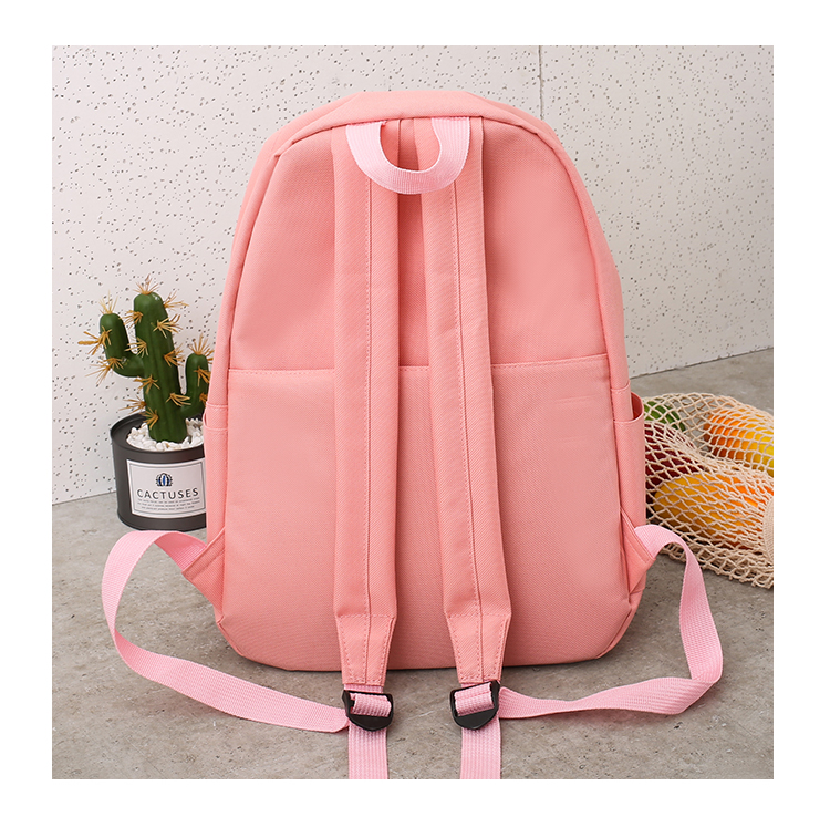 Cute WeekendTravel Bag School Backpack for Girls Canvas Fashion Casual Four Piece Set Letter Bags Yellow one size 37