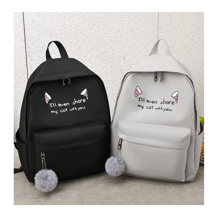 Cute WeekendTravel Bag School Backpack for Girls Canvas Fashion Casual Four Piece Set Letter Bags Yellow one size 28