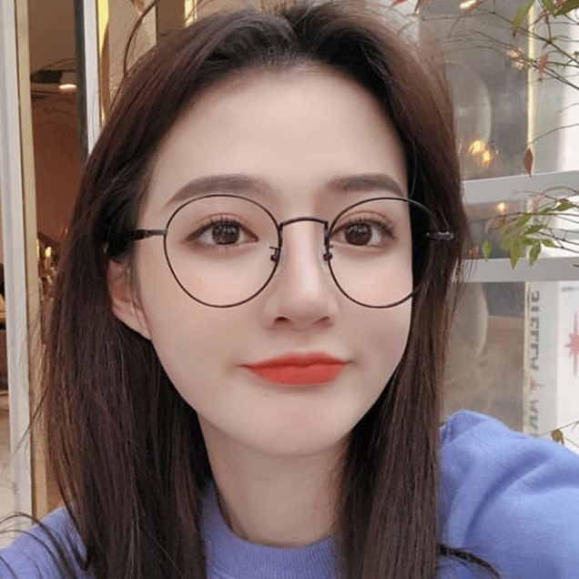 4ef34c8e7 ... Ulzzang Korean version of the tide retro Phnom Penh round glasses frame  female literary art artifact