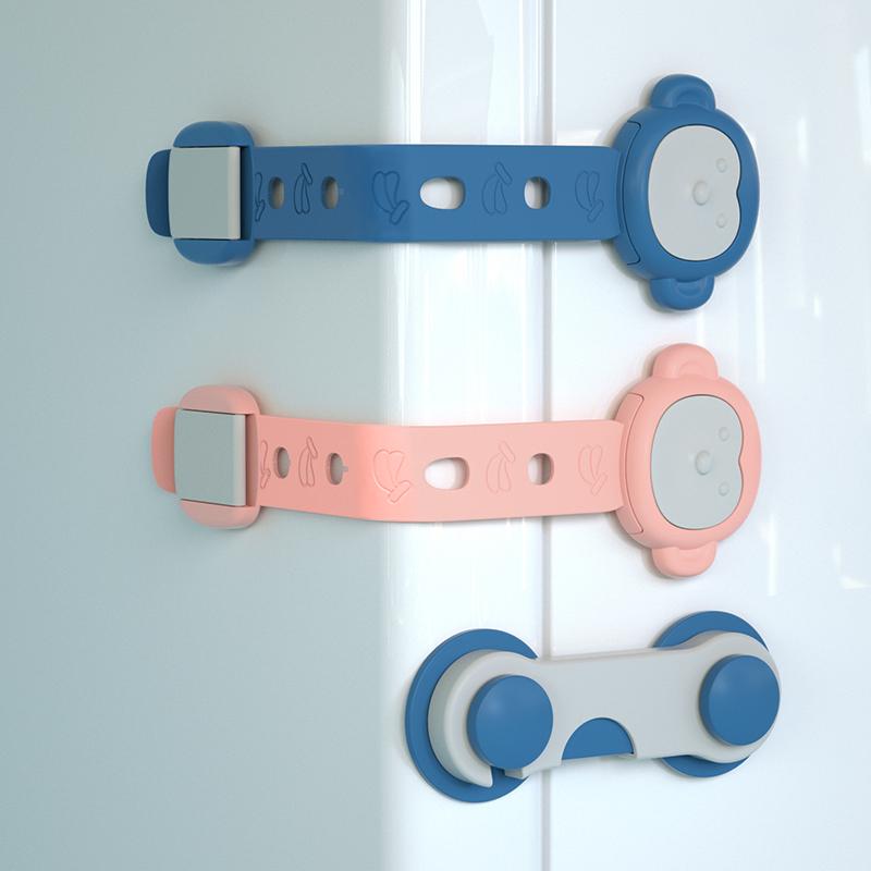 儿童安全锁扣抽屉锁婴儿防开防夹手宝宝推拉门冰箱防护柜子柜门锁