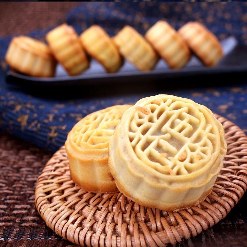广式水果味迷你小月饼多口味五仁散装凤梨红枣豆沙500g约18个整箱