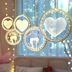 led love hanging lights room ins decoration small lanterns flashing lights string lights starry star marriage proposal arrangement star string lights