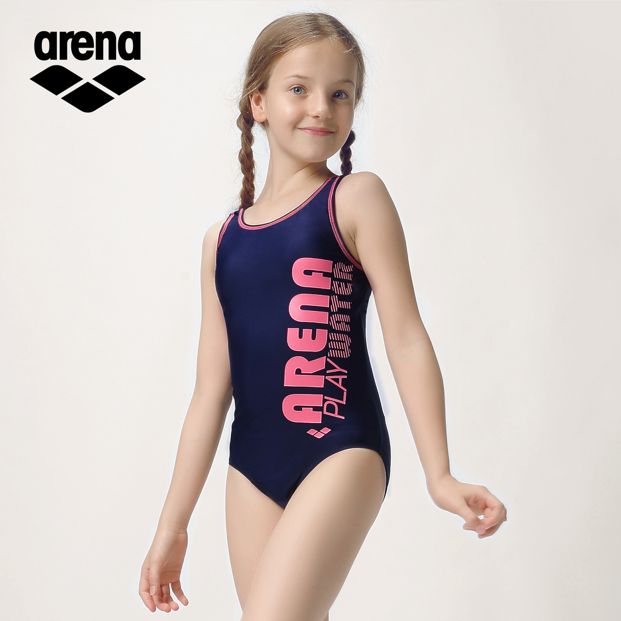 2b10c50122ae3 Arena arina children's swimsuit teen girls one-piece triangle swimsuit  professional water quick-drying swimsuit