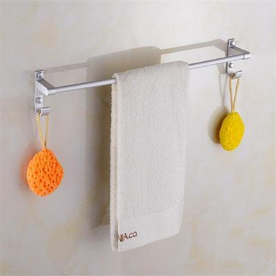 免打孔太空铝毛巾架加长浴巾架浴室