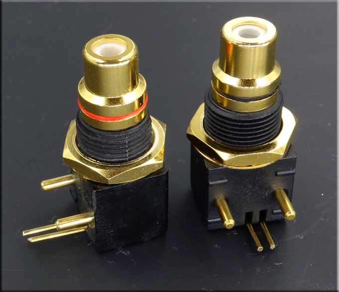 HIFI Gold-plated Copper RCA Coaxial Solder Board Socket Advanced Turntable DAC