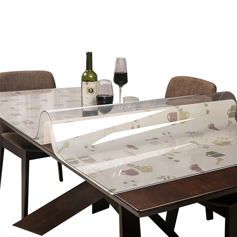 soft plastic glass pvc tablecloth waterproof anti ironing oil free transparent dining table pad. Black Bedroom Furniture Sets. Home Design Ideas