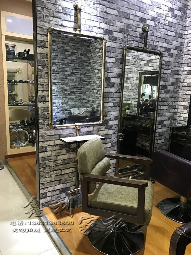 usd hairdresser mirror station vintage industrial. Black Bedroom Furniture Sets. Home Design Ideas