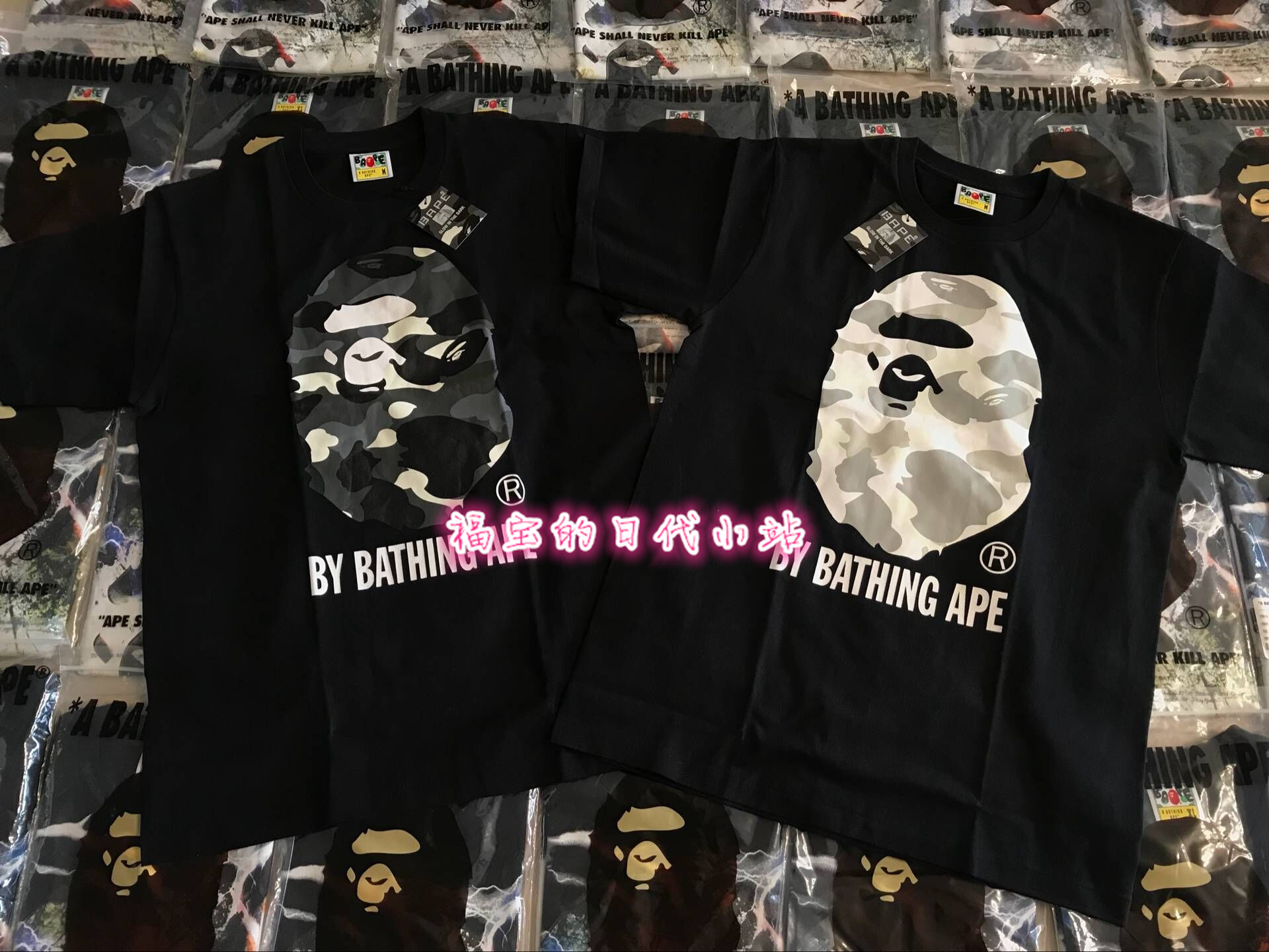 56146676ac7d (Spot) bape 18ss city camo Night light camo Big Ape Man Head Short Sleeve  tee T-shirt
