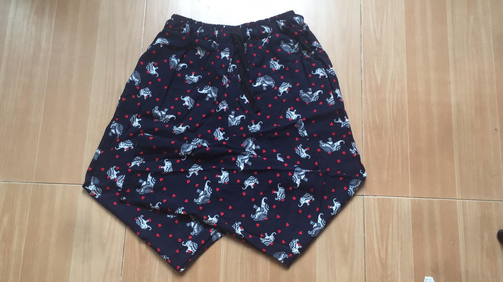 Mùa hè bông nhân tạo phụ nữ quần bông lụa hậu cung quần mỏng đàn hồi eo kích thước lớn chất béo mm bông quần âu