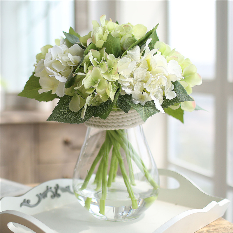 Small fresh table flower set fake flower decoration flower small fresh table flower set fake flower decoration flower arrangement silk flower artificial flower decoration living room decoration hydrangea mightylinksfo