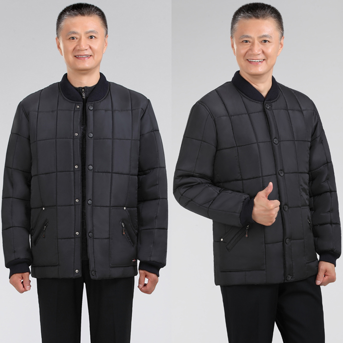 dd5722ce99d4d Plus fertilizer to increase the size of the elderly winter padded cotton  home Fat Fat Man small cotton jacket male cotton buckle dad
