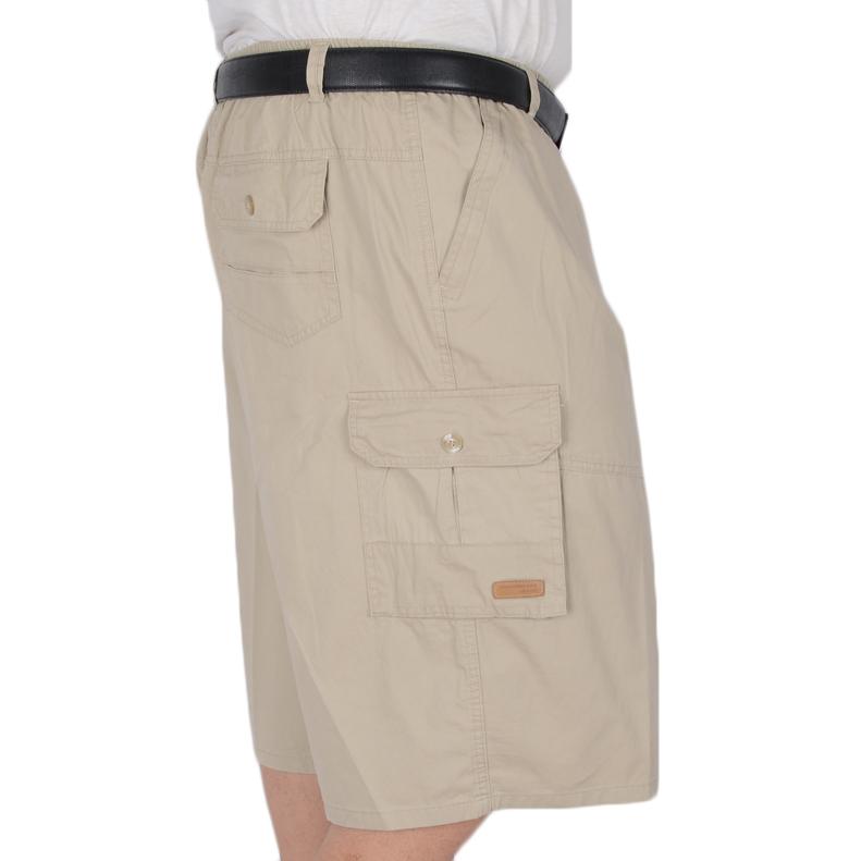 Mùa hè kích thước lớn bông 7 điểm quần vành đai vành đai cha bảy điểm quần với dây kéo quần eo cao sâu tập tin chất béo